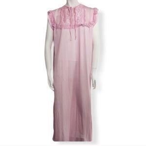 Vintage 1970s long pink nightgown